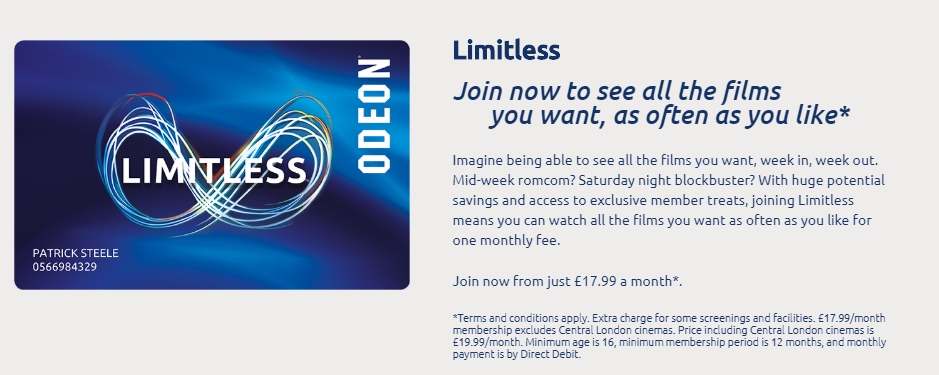 Limitless Films At The Odeon Luxe